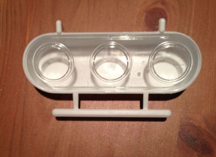 3 PART SEED FEEDER PLASTIC 6.5 x 12.5 x 40mm